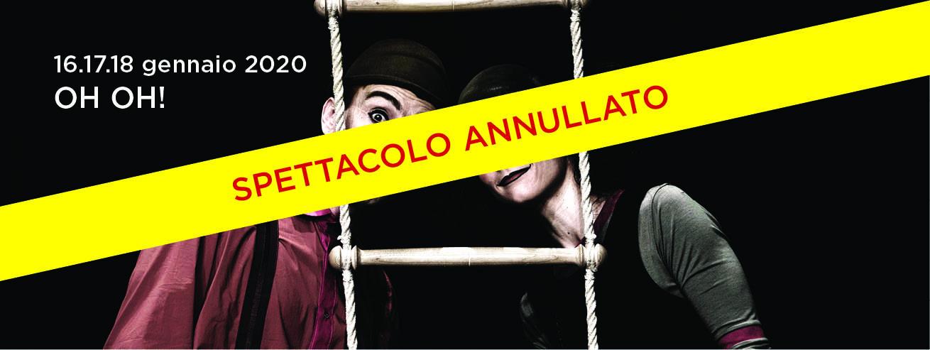 """*** AVVISO IMPORTANTE –  SPETTACOLO """"OH OH!"""" ANNULLATO 16.17.18 gennaio ore 21.15 ***"""