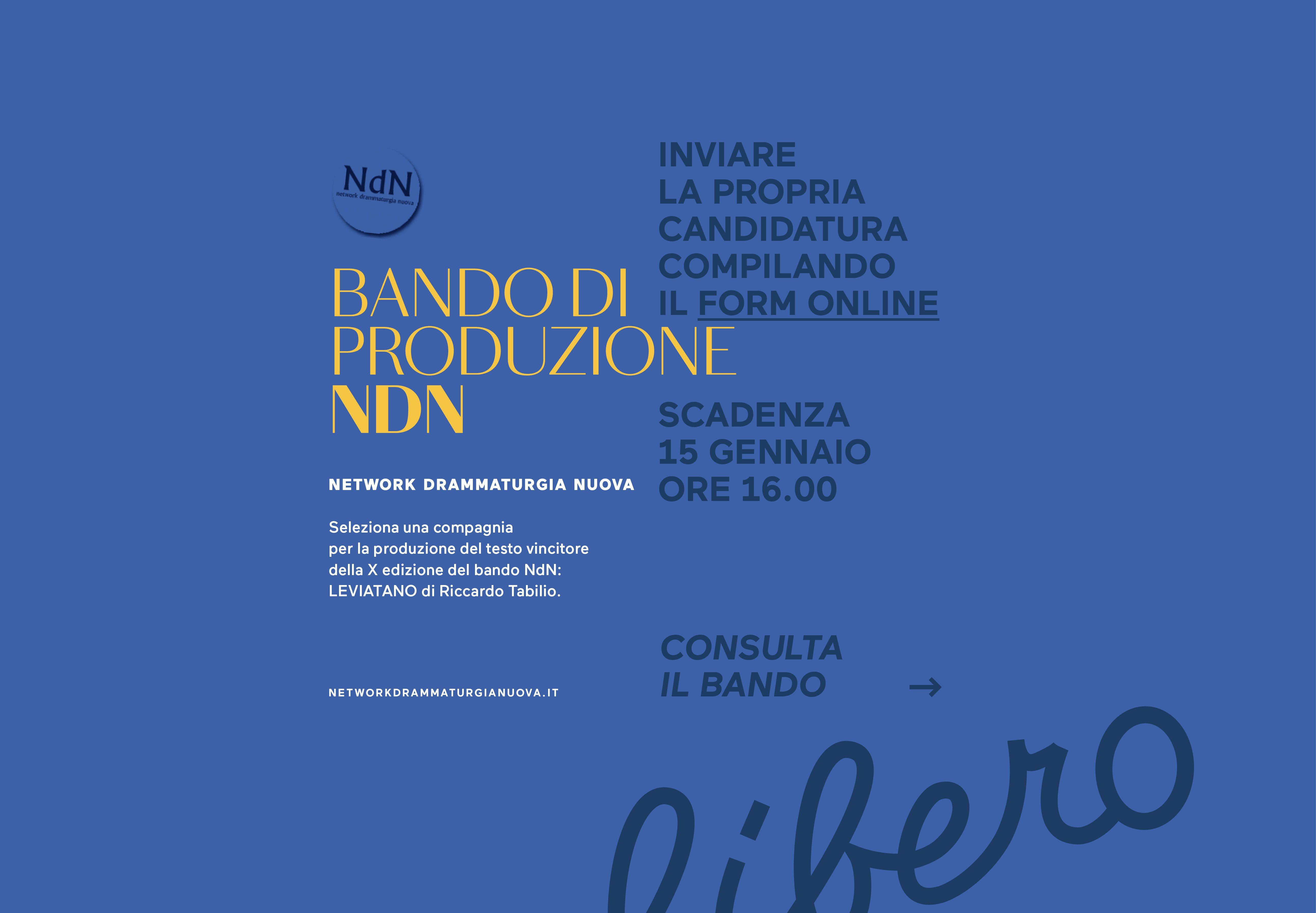 Bando – NdN Network drammaturgia Nuova
